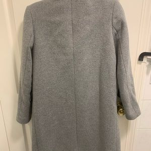 Zara grey wool coat